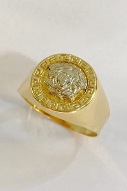 18K GOLD MEN'S VERSACE RING