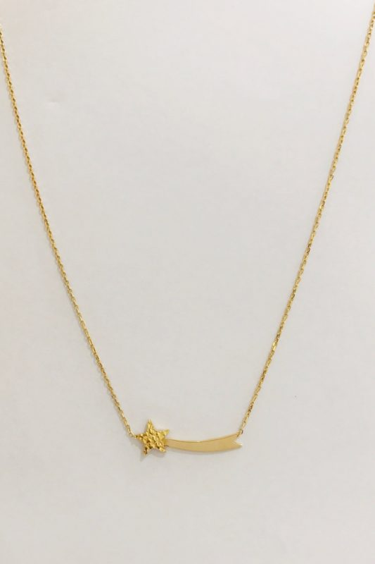 18k YELLOW GOLD CHOKER NECKLACE