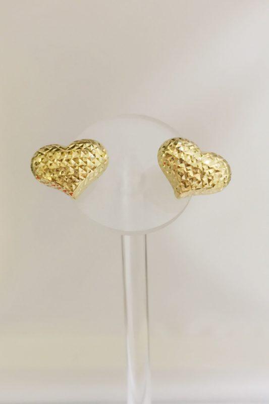 18K GOLD HEART EARRINGS