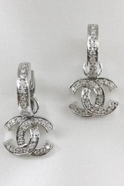 Diamond Earrings set in 14k White Gold