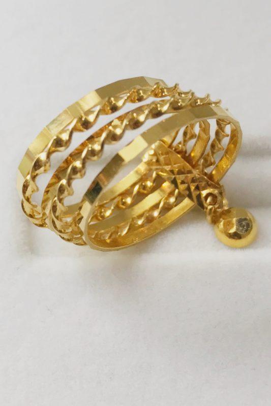 21K YELLOW GOLD WOMEN'S RING